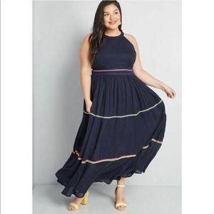 ModCloth size 16 yes festive maxi dress